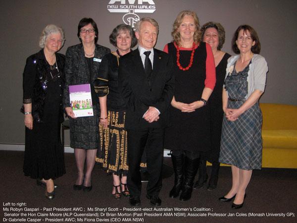 Jan Coles with healthy women