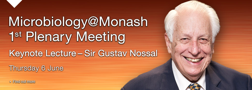 Microbiology@Monash 1st Plenary Meeting. Find out more, http://www.med.monash.edu/events/docs/m-at-m-flyer-and-program.pdf
