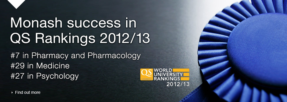 Monash success in QS Rankings 2012. Find out more, http://www.topuniversities.com/university-rankings