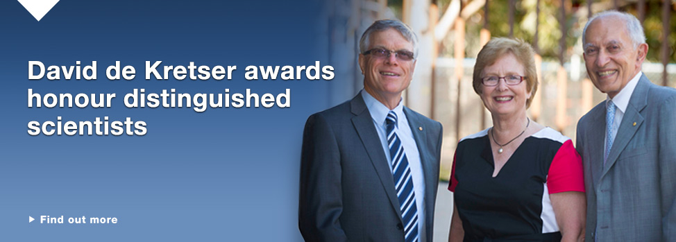 dekretser medal Find out more, http://www.med.monash.edu.au/news/2014/distinguished-medical-scientists-honoured.html