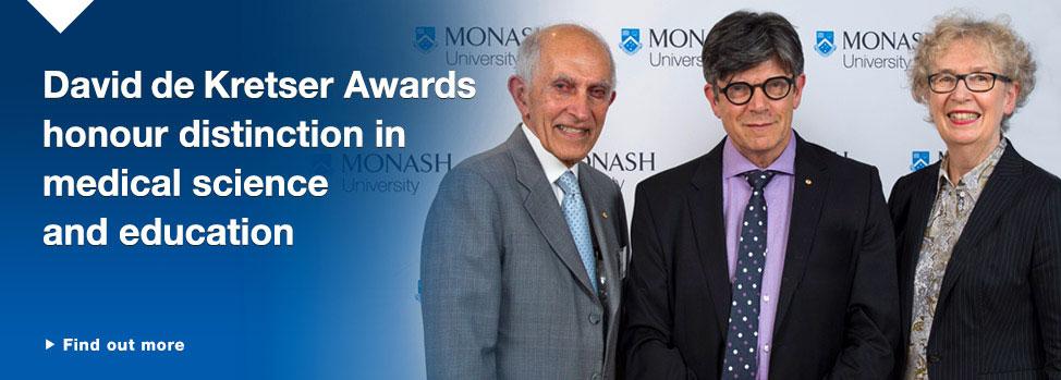 David de Kretser Awards honour distinction in medical science and education