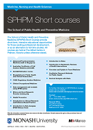 SPHPM short courses