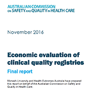 Economic evaluation of clinical quality registries