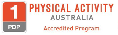 Course accreditations from Fitness Australia and Physical Activity Australia